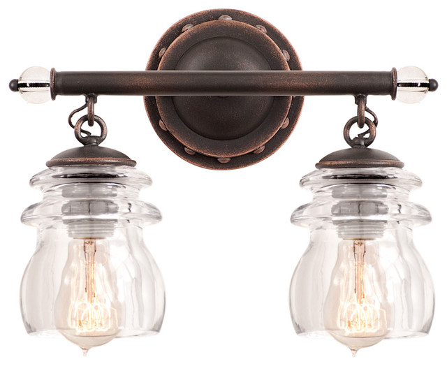 Kalco lighting 6312ac brierfield antique copper 2 light for Traditional bathroom vanity lights