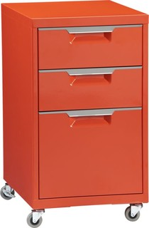 TPS bright orange file cabinet - Bulletin Boards And Chalkboards - by CB2