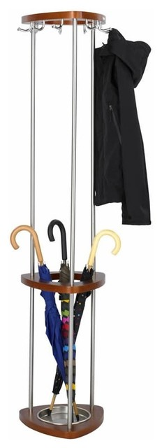 Wood Coat Rack With Umbrella Stand Contemporary