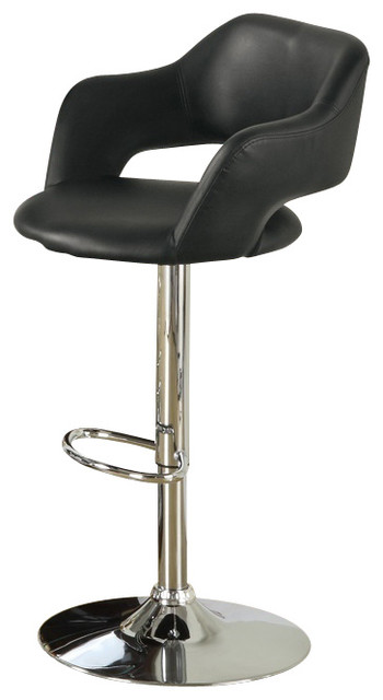 monarch specialties barstool with hydraulic lift in black bar stools