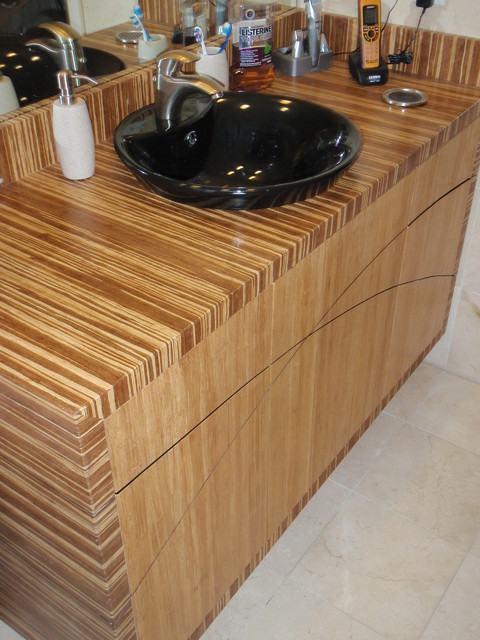 Bamboo bathroom ideas modern austin by bamboo crew for Bamboo kitchen cabinets for sale