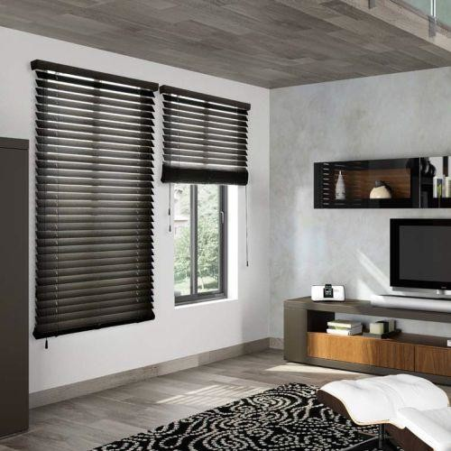 American Blinds Signature Wood Blinds In Dark Walnut