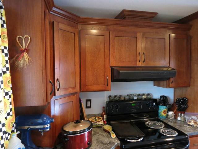 Alder Birch Cabinets: Cherry Mohagony Stain