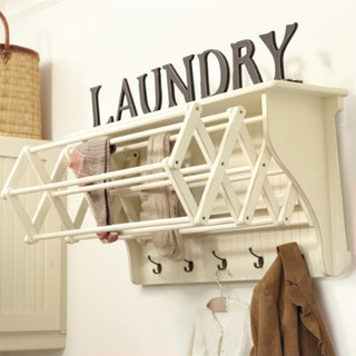 Corday accordian drying racks farmhouse drying racks Laundry room drying rack ideas