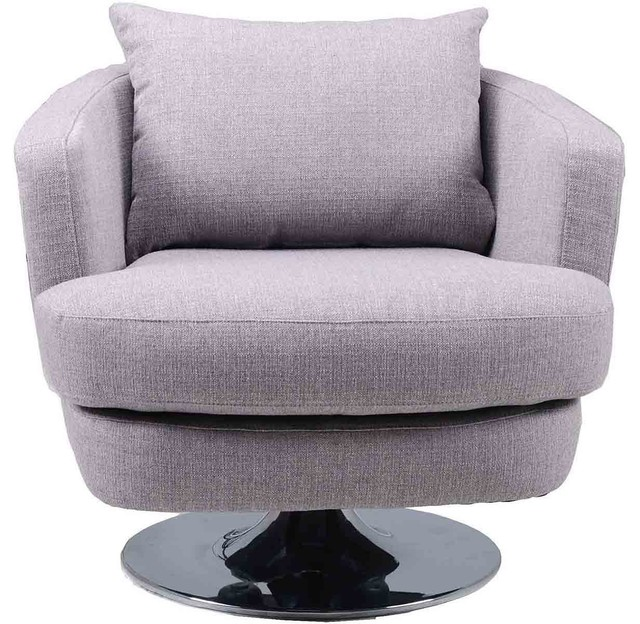 Moes Home Collection Penny Fabric Swivel Chair Gray