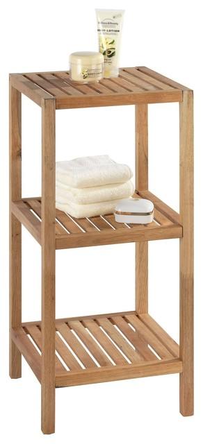 woody bain tag re en bois 3 tablettes bord de mer placard et tag re de salle de bain par. Black Bedroom Furniture Sets. Home Design Ideas