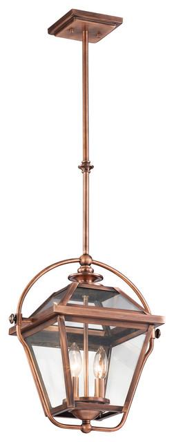 Kichler lighting 42908aco ryegate 2 light pendants in for Houzz rustic lighting