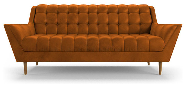 Fitzgerald Leather Sofa Brighton Volcano Brown  : midcentury sofas from houzz.com size 640 x 300 jpeg 42kB