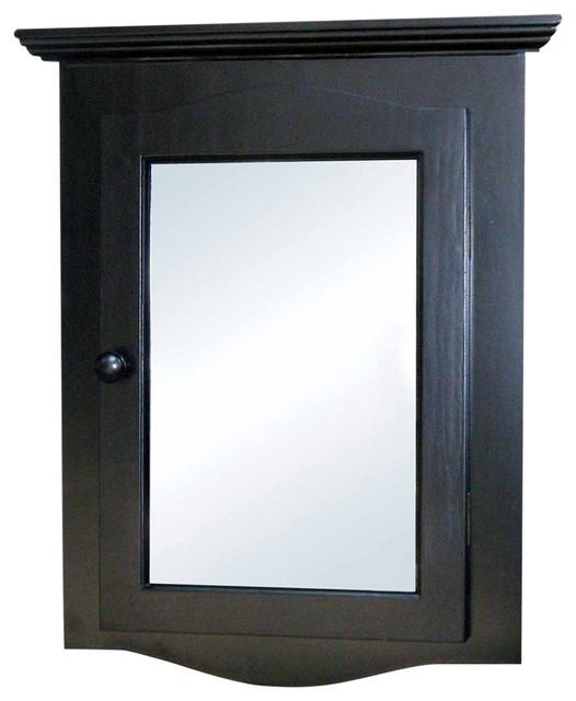 Medicine cabinets black hardwood corner 27 1 8 17896 Black medicine cabinets for bathroom
