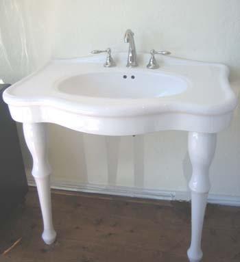 Classic Bathroom Sink : Classic Console Sink - Bathroom Sinks - by vintagebath.com