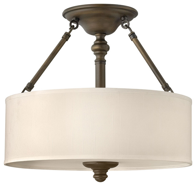 Foyer Semi Flush Mount Lighting : Hinkley lighting bn semi flush lt foyer