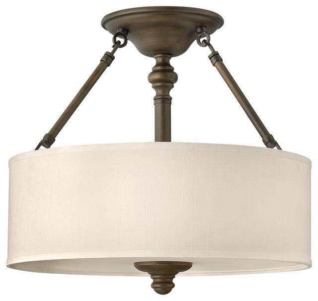 Hinkley Foyer Lighting : Hinkley lighting bn semi flush lt foyer