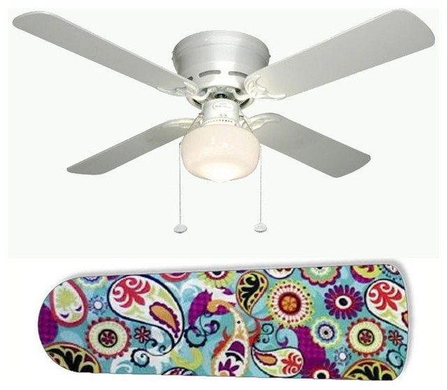 Funky paisley 42 ceiling fan and lamp contemporary for Funky ceiling fans