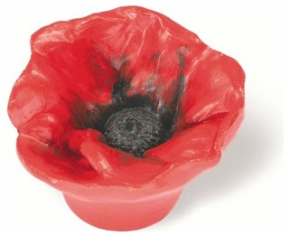 Red Poppy Knob (SD101102) - Cabinet And Drawer Knobs - by ...