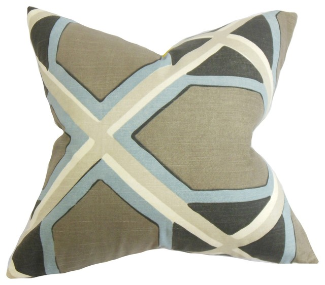Modern Geometric Pillows : Otthild Geometric Pillow - Contemporary - Decorative Pillows - by The Pillow Collection Inc.