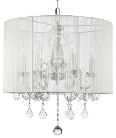 Gallery T Light One Tier Crystal Candle Style Chandelier With Clear Crysta Traditional