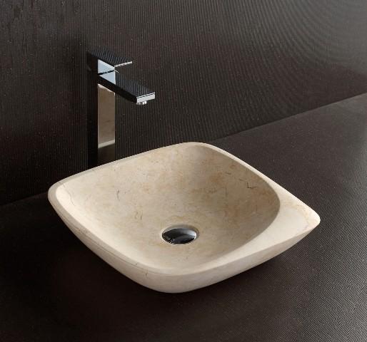 Maya - Designer Galala Limestone Basin - Modern - Bathroom Basins ...
