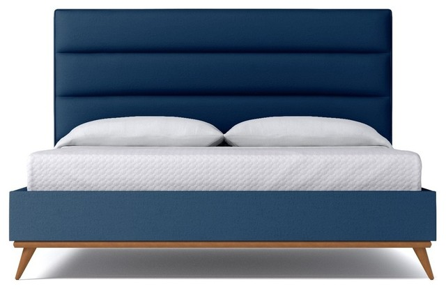 Cooper Upholstered Bed From Kyle Schuneman Blueberry Contemporary