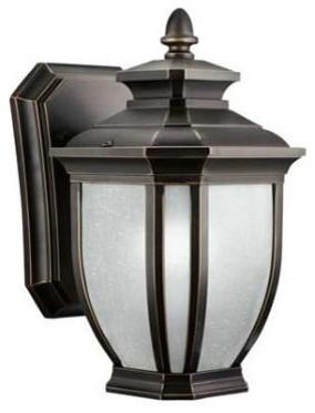 Outdoor Wall Lamp Shades : Kichler 11001RZ Salisbury Fluorescent Outdoor Wall Lantern 11001RZ - Modern - Lamp Shades