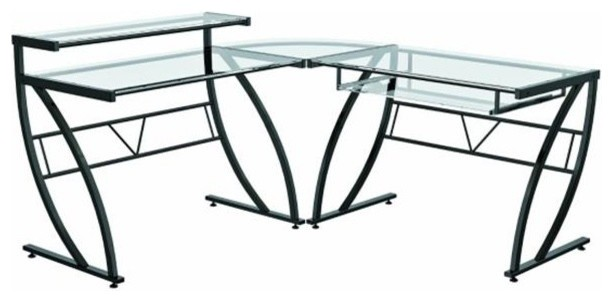 Z Line Designs Zl1441 1du Belaire Glass L Desk