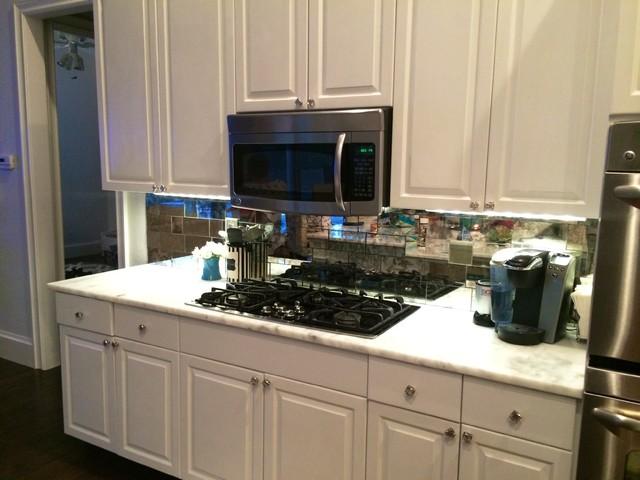 Antique Mirror Tiles For Kitchen Backsplash