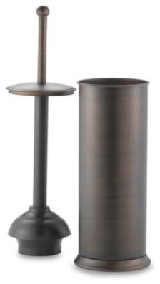 oil rubbed toilet plunger in bronze contemporary toilet plungers holders by bed bath. Black Bedroom Furniture Sets. Home Design Ideas