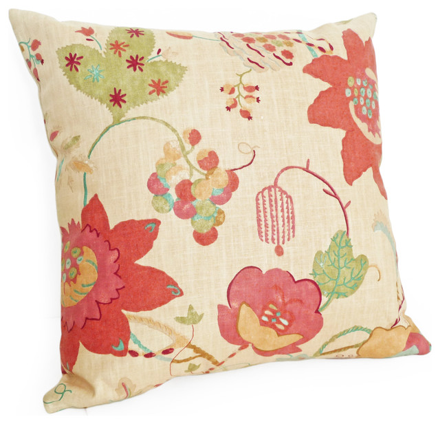 Eclectic Decorative Pillows : Organic Floral Pillow - Eclectic - Decorative Pillows - vancouver - by PillowThrowDecor