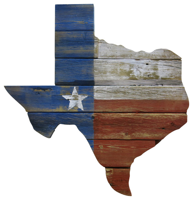Reclaimed Wood Texas Wall Art Rustic Artwork