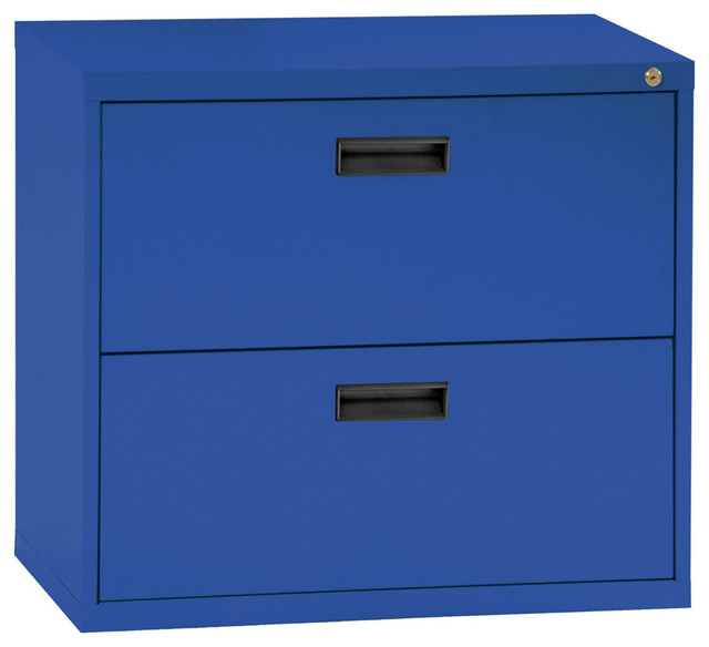 400 Series 2-Drawer Lateral File, Blue - Modern - Filing Cabinets - by Sandusky Cabinets