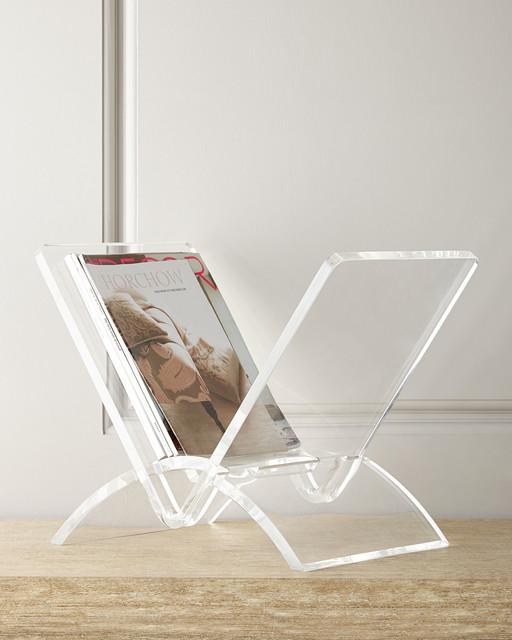 Versa Acrylic Magazine Rack Clear Contemporary