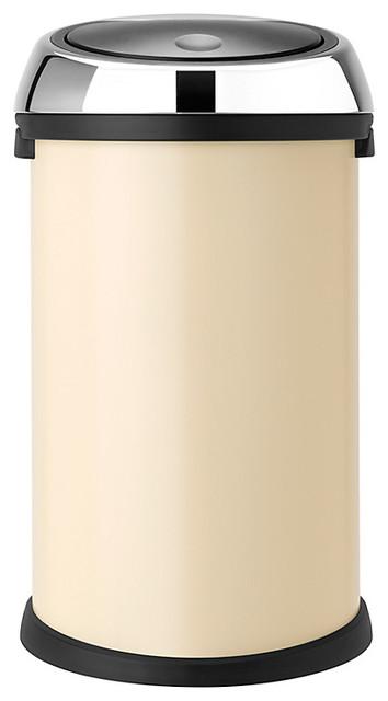 Brabantia touch bin almond 50l contemporary trash - Poubelle brabantia touch bin 50l ...