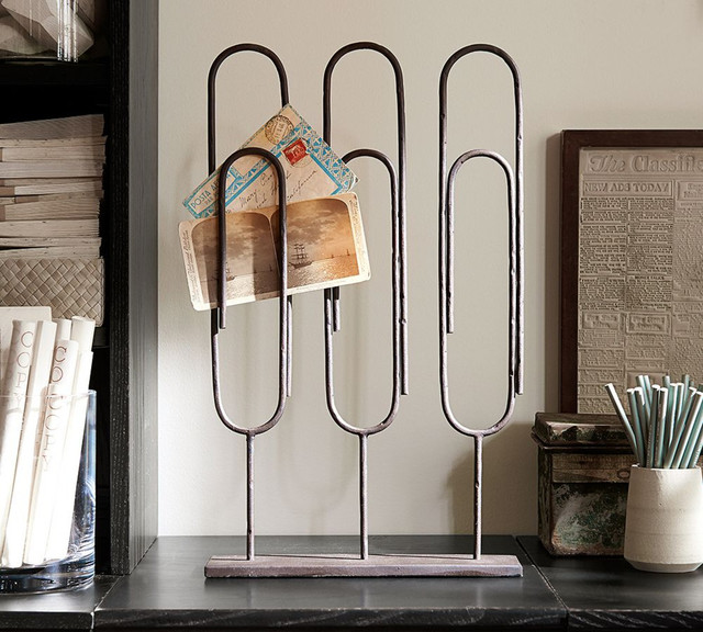 Standing Paper Clip Industrial Desk Accessories By