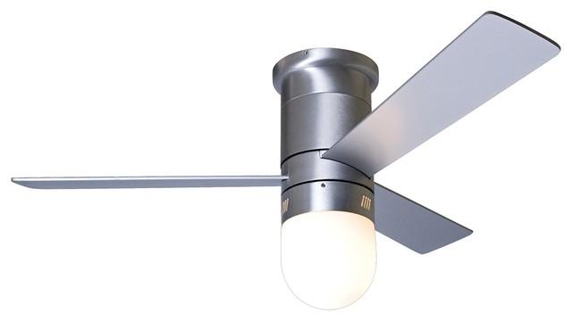 42 cirrus aluminum finish light hugger ceiling fan. Black Bedroom Furniture Sets. Home Design Ideas