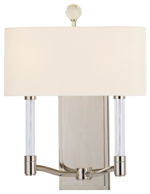 Bathroom Wall Sconces Polished Nickel : Hudson Valley 3002-PN Waterloo 2 Light Wall Sconce in Polished Nickel - Contemporary - Bathroom ...