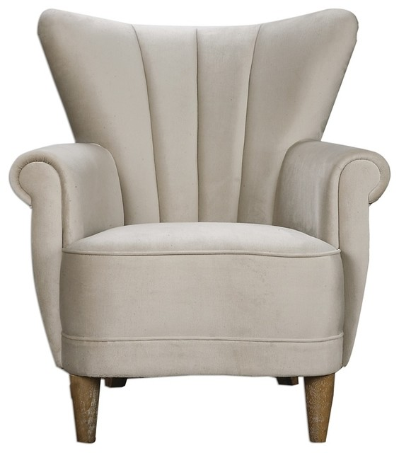 Franchette Armchair By Uttermost Transitional Armchairs And Accent Chairs