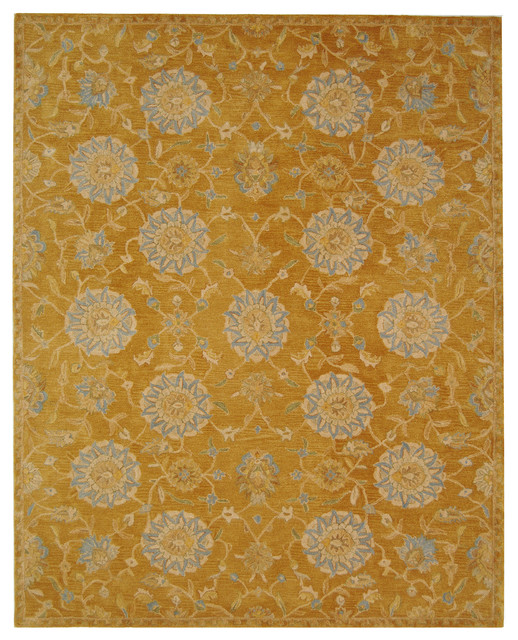 safavieh brown hand tufted rug gold and blue 8 39 x10 39 modern area rugs by safavieh. Black Bedroom Furniture Sets. Home Design Ideas