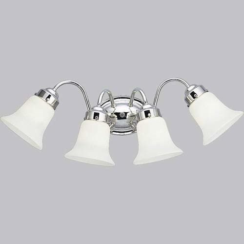 P3376 15 polished chrome four light bath fixture modern bathroom vanity lighting for How to clean pitted chrome bathroom fixtures