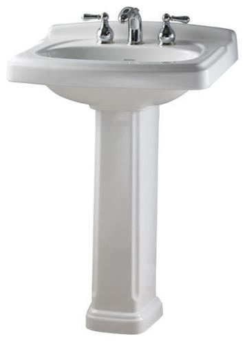 ... 801 Portsmouth Pedestal Bathroom Sink with traditional-bathroom-sinks