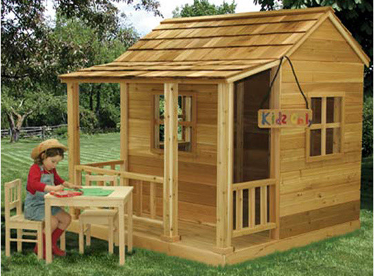 Little cedar playhouse outdoor playhouses by kids for Toddler outdoor playhouse