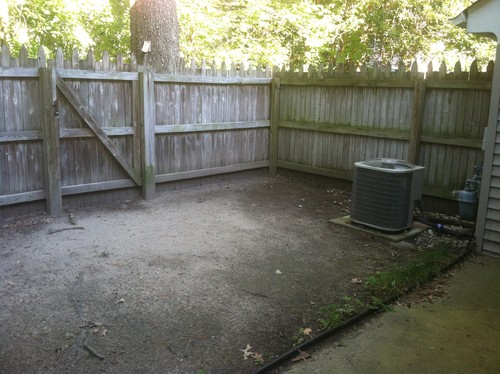 Very Small Backyard Patio Ideas : Just bought this townhouse! No grass, just dirt! I would like for it