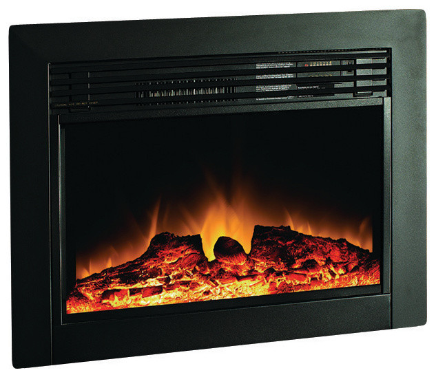 The Ingleside 28 Led Electric Fireplace Insert Contemporary Indoor Fireplaces By