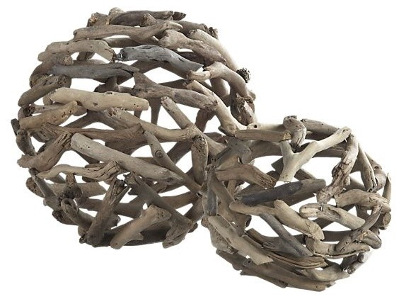 driftwood large ball eclectic home decor