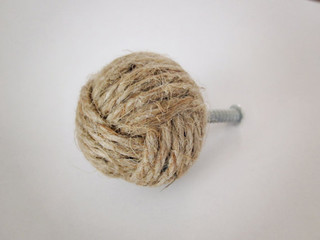 Jute Rope Knot Knob by Kris Krafting - Contemporary - Cabinet And Drawer Knobs - by Etsy