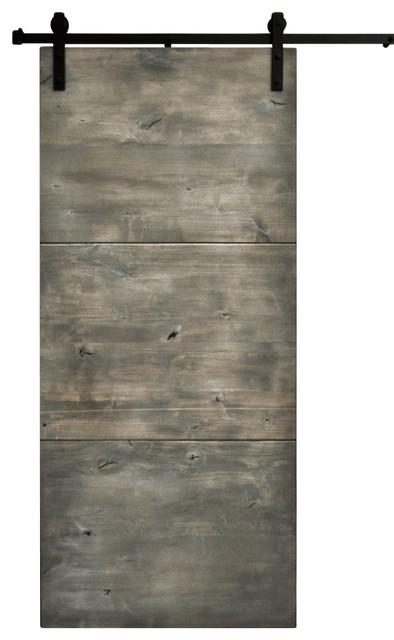 Barn door and hardware modern slab silverwood 48 x96 for 48 inch barn door