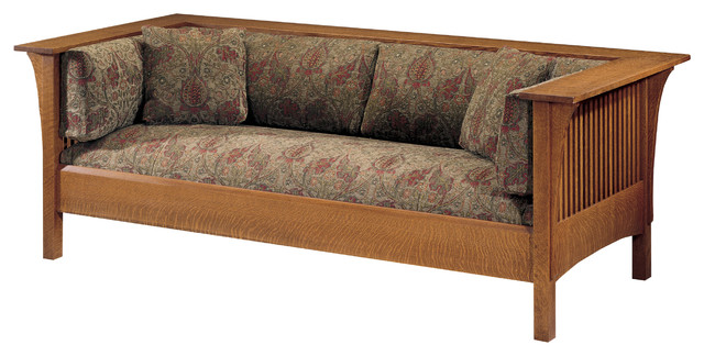 Stickley Prairie Spindle Settle 89 234