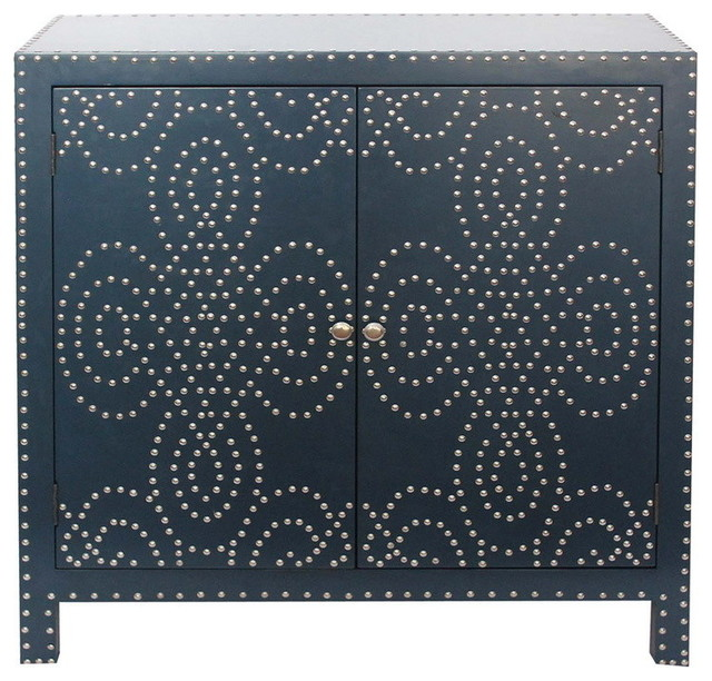 ... Indigo 2 Door Nailhead Cabinet transitional-accent-chests-and-cabinets