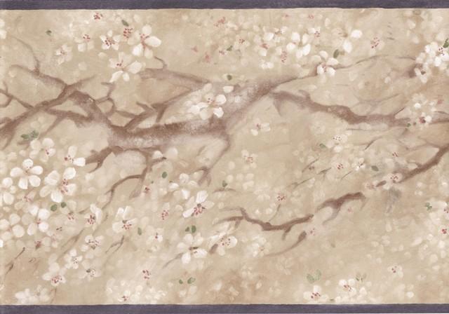 Shop Houzz York Wallcoverings Black Beige Japanese Floral Wallpaper