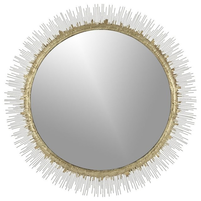 Clarendon Large Round Wall Mirror Contemporary Mirrors