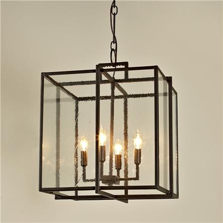Double Cube Frame Lantern Modern Pendant Lighting By