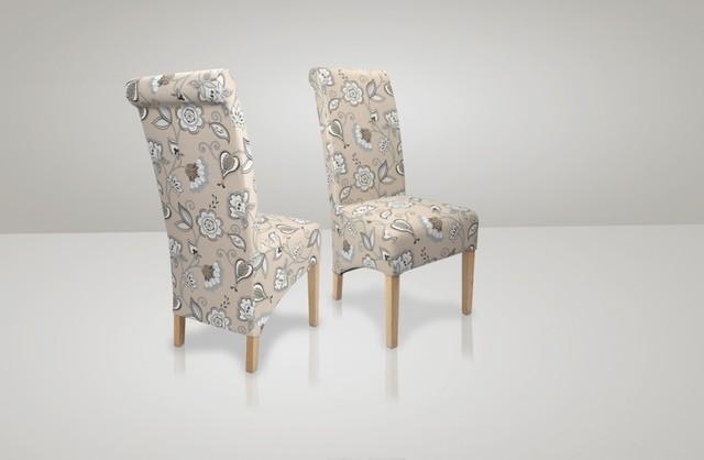 Karas Deco Duck Egg Blue Fabric Chair Pair By Sherman Contemporary Dini